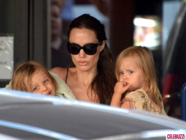 Angelina Jolie Takes the Kids to Their Favorite Maltese Haunt (PHOTOS)