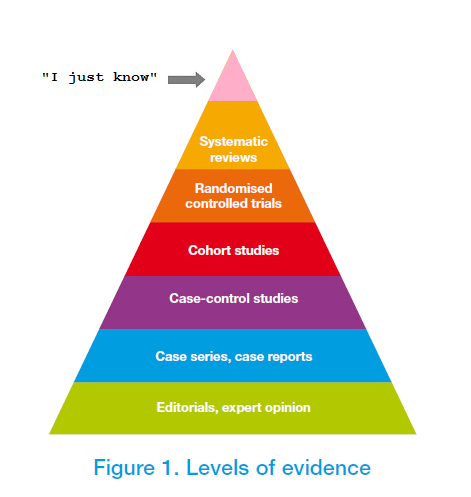 """I just know"" replaces systematic reviews at top of ..."
