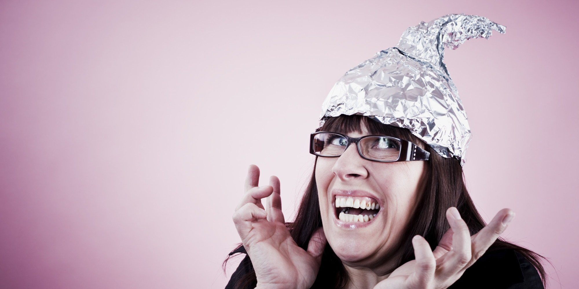 Tin foiled woman